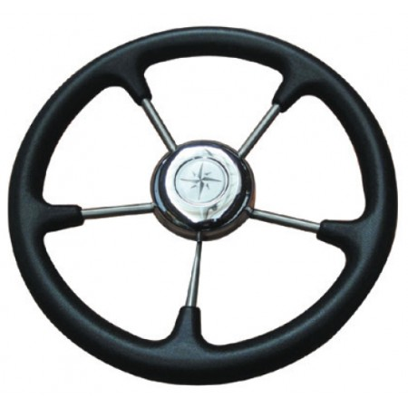 Τιμόνι Ανοξείδωτο με Μαλακή Στεφάνη Φ320 mm