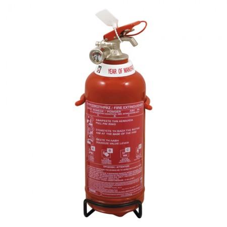 Πυροσβεστήρας 1Kg Ξηράς Σκόνης με Μεταλλική Βάση ΜΟΒΙΑΚ