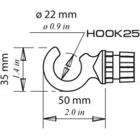Γάντζος Hook25 Railblaza